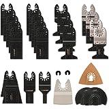 28 Stks oscillerende zaagbladen Set Universele Hout en Metalen Multi Tool Blades Quick Release Multitool Accessoires voor Bos