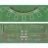 Trademark Poker Blackjack und Craps 2-seitige Layout 91,4 cm x 183 cm