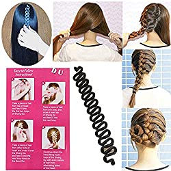 Brand New andamp; High quality. Brings you a new hair style in secondsMaterial: Plastic; Easy and convenient to carry and useWidth: approx 2.5cm; Weight: approx 13gAnyone can make a professional looking French Braid in no time,with this easy ...