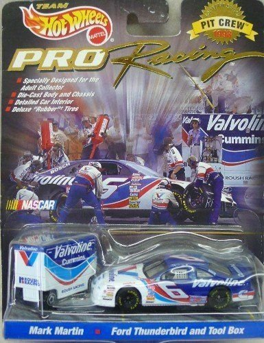 team-hot-wheels-pro-racing-1998-pit-crew-nascar-164-scale-6-valvoline-ford-taurus-and-tool-box-mark-
