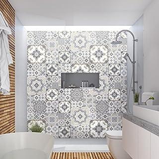 Stickers adhésifs carrelages muraux azulejos - 15 x 15 cm - 60 pièces