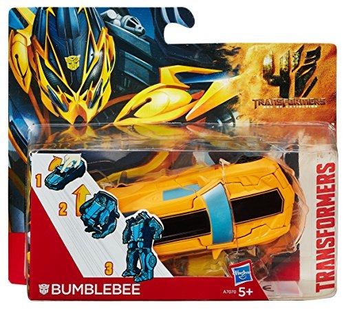 Hasbro A9867E24 - Transformers Movie 4 One Step Bumblebee, Actionfigur (Transformation Bumblebee Transformers)