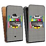 Nokia Lumia 625 Sacoche Housse de Protection Walletcase Bookstyle Image télé Dysfonctionnement Dérangement Test couleur de l'écran