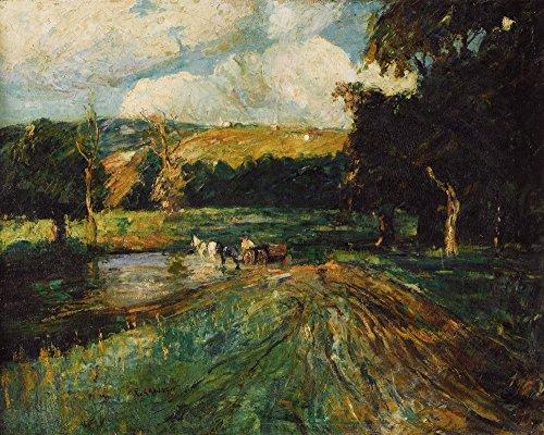 Das Museum Outlet-Connecticut Landschaft, gespannte Leinwand Galerie verpackt. 29,7x 41,9cm