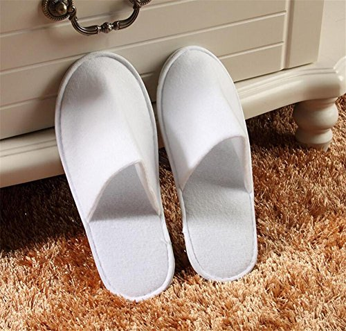 pantofole Pantofole monouso ispessimento antiscivolo tirare peluche pantofole ospitalità stella albergo hotel pantofole 10 coppie , red white