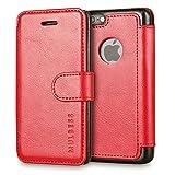Custodia iPhone SE - Cover iPhone 5s - Mulbess Custodia In Pelle Con Flip Cover Per iPhone SE 5 5s Custodia Pelle Vino Rosso