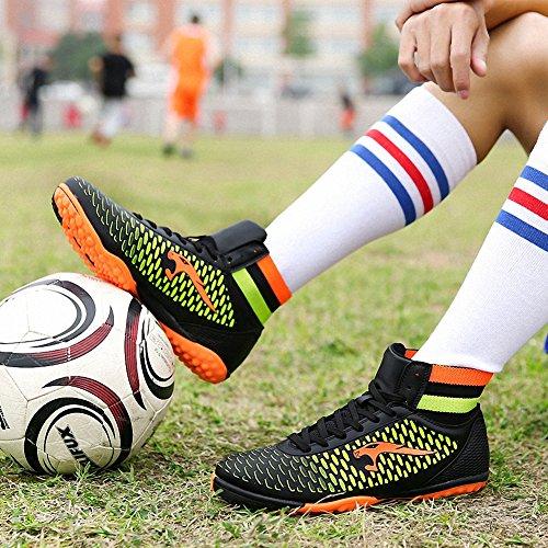 Ben Sports Unisex-Kinder Hallenschuhe TF indoor Trainingsschuhe Fußballschuhe der Herren,33-46 Schwarz