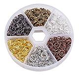 pandahall alrededor de 1300 PC 6 colores 7mm hierro anillos del salto abierto enlace de cota de malla cable de calibre 21 para la fabricacišn de la joya