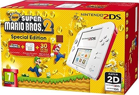Nintendo 2203846 - 2DS HW WHITE/RED NEW SUPER MARIO BROS 2