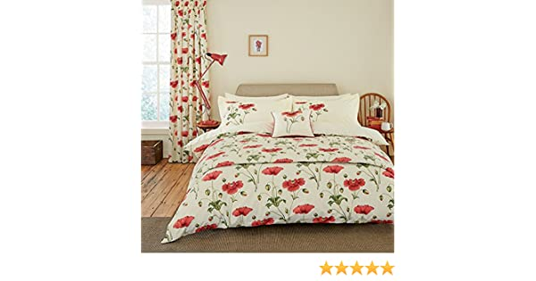Sanderson Bedding, Persian Poppy Kingsize Duvet Cover Set, Red:  Amazon.co.uk: Kitchen U0026 Home