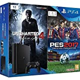 Konsole Sony PS4 1 TB Chassis D + Uncharted 4 + Pro Evolution Soccer 2014