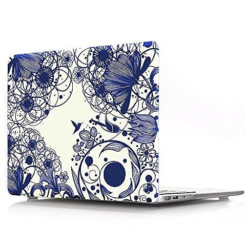 Proelife 2en 1Premium Ultra mince PC Coque rigide Housse de protection et d'une même Motif TPU solide Couvercle de clavier pour MacBook 30,5cm (modèle: A1534) Macbook 12'' Porcelain-Blue with