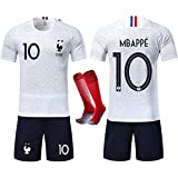 RONGLI Maillots de Football T-Shirt 2 ¨¦Toiles V¨ºtements de Football avec Chaussettes et Accessoires Chemise de Football pou