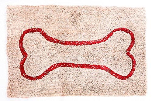 soggy-doggy-en-microfibre-chenille-paillasson-pour-chien-humide-pattes-grand-66-x-914-cm-beige-rouge