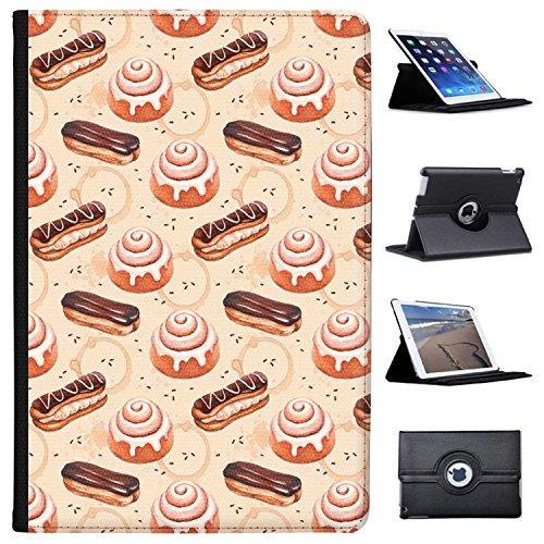 Fancy A Snuggle Design glasiertes Brötchen & Schokoladen-Eclair Case Cover/Folio aus Kunstleder für Das Apple iPad Pro 10.5