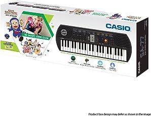 Casio SA77 Mini Portable Keyboard+Adapter With Free Ninja Hattori Stationery Box