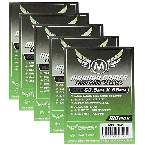 Mayday Standard Card Game Sleeves - Kartenschutzhüllen 63,5x88mm (500 Stück) Vorteilspack