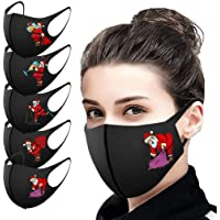 5pcs Christmas Printed Face Covering Washable and Reusable and Adjustable For Adult Man And Woman Comfortable Fashion…