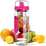 Laptone Wasserflasche, [BPA-freiem Tritan] Kunststoff Trinkflasche Sport, Flasche ca. 1L, Sportflasche Auslaufsicher, Trinkflaschen mit Verschluss & Tragehenkel für Fruchtschorlen/Gemüseschorlen