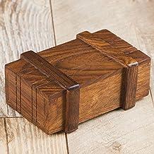 rusticity secreto de madera misterio Box/caja mágica con opening| hecho a mano | (4x 2,5en)