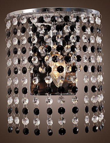 GOUD Lampada da parete contemporanei 1 luce applique da parete con gocce di cristallo placcano finitura , 220-240v