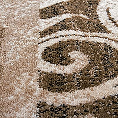 Designer Rug for Living Room Interior Decoration Rug Flecked Beige Brown - cheap UK light store.