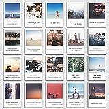 Postkarten Set Inspiration - 20 inspirierende Sprüche, Zitate und Bilder im retro Polaroid Style von INDIVIDUAL NOMAD