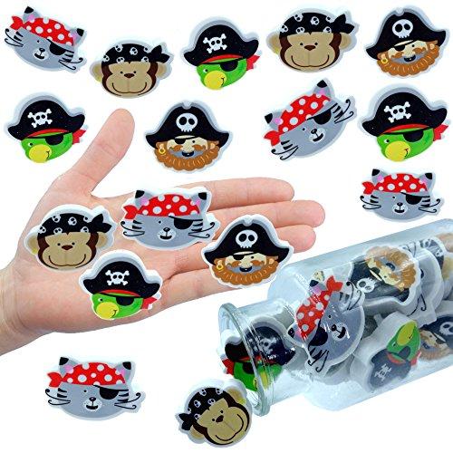 - 6 x Piraten Radierer für Kinder ┃ NEU ┃ Schatzsuche ┃ Kindergeburtstag ┃ Mitgebsel ┃ Ahoi Mix ┃ 6 Stück (Mickey ' S Halloween Party Preis)