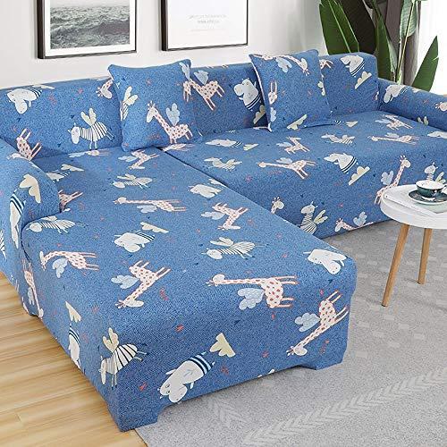 Drucken Elastischer Sofa Überwürfe Sofabezug Bezüge Sofahusse Abdeckung Sofaüberwurf Bezug Couch Schonbezug 1,2,3,4 Sitzer Cover Stretch für Jacquard Couchbezug Antirutsch Stretch
