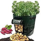Quanjucheer 2PCS 7Gallon giardinaggio Barrel vaso per piante balcone casa patata coltivare piante contenitore porta secchio