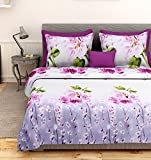 First Row Alluring Purple Printed Bedshe...