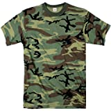Star and Stripes Army Woodland Camouflage t Shirts, camo Tshirt