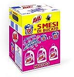 Ava Detersivo Lavatrice Liquido, Esplosione di Primavera, 108 Lavaggi