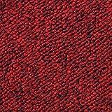 Monster Shop - 20 Quadrotte di Moquette 50x50cm Colore Rosso Scarlatto 5mq Dure Commerciali per Pavimenti di Case e Uffici