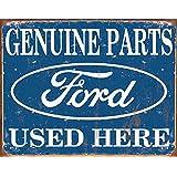 Ford Parts Used Here Cartel de Chapa Placa metal plano Nuevo 40x31cm VS4742-1