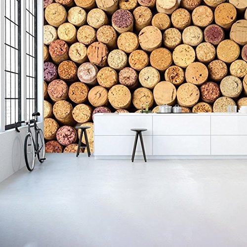 Cork Hintergrund Weinflas