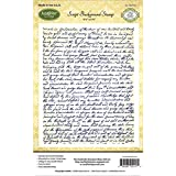 Justrite Papercraft Rubber Just Rite Cling Background Stamp 4.5-inch x 5.75-inch, Script