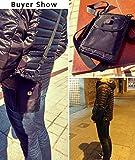 Hengying Herren Männer Nylon Kleine Umhängetasche Gürteltasche Mini Handy Tasche mit Gürtelclip Reißverschluss für iPhone 7 Plus 6S Plus 6S Galaxy S8 Plus S7 J5 Xperia Xa1 5'' 5,5'' (Schwarz) - 7