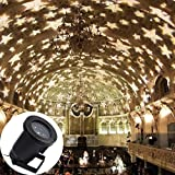 GAXmi LED Flut-Licht Wasserdicht Warmweiß Sternchen- Landschaft Lichter Innen- Draussen Beleuchtung für Garten Rasen Weihnachten Urlaub