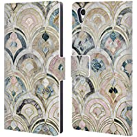 Official Micklyn Le Feuvre Art Deco Tiles In Soft Pastels Marble Patterns Leather Book Wallet Case Cover For Sony Xperia Z5 / Z5 Dual