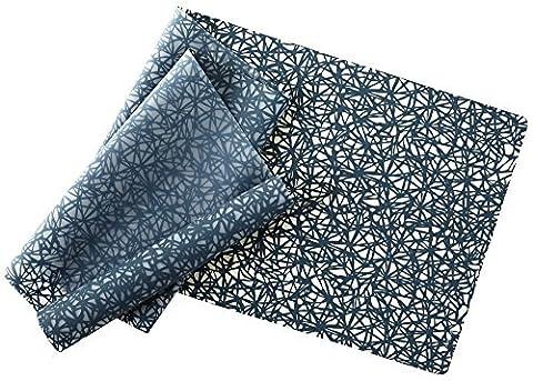 modern-twist Silicone Table Runner, 72 x 14, Twine Pattern, Midnight
