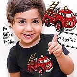 Bügelbilder Applikation Feuerwehr Fahrzeug Bügelbild Bügelmotiv Aufbügelbilder für Jungs bb054 ilka parey wandtattoo-welt®