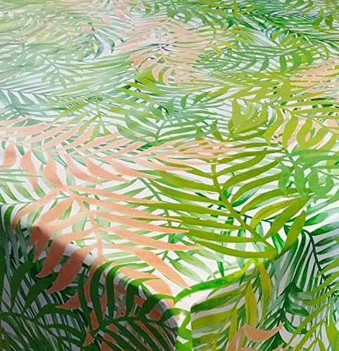 DecoHomeTextil Wachstuch Wachstischdecke Tischdecke Gartentischdecke Bambus Rio Grün Breite & Länge wählbar 80 x 150 cm Eckig abwaschbar Lebensmittelecht