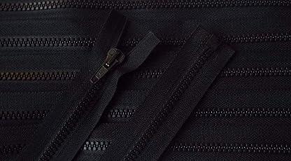 Reißverschluß Kunststoff teilbar für Jacken 66 cm schwarz