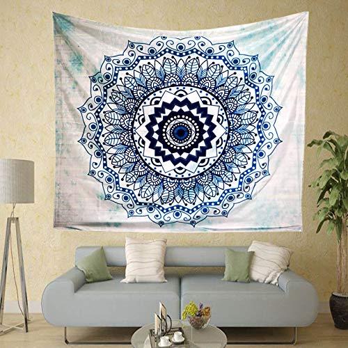 mmzki Indien Mandala Print Tapisserie Wandbehang Wandverkleidung Strandtuch Stranddecke Abbildung 20 Polyester M Code (150 * 130)