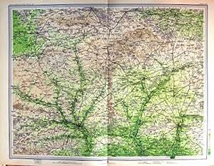 Carte Couleur 1903 Salisbury Andover Winchester Devizes
