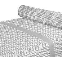 DAGOSTINO HOME Juego de Sabanas para cama de 135, Diseño Neon sage, Composicion, 50% Poliester/50% Algodón, Compuesto por Funda de almohada, Encimera y Bajera.