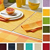 Sander 4-er Set Tischset Breeze, Größen- Farbauswahl (03 - gelb)