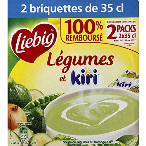 Doux plaisirs legumes au kiri liebig briques 2x35cl - ( Prix Unitaire ) - Envoi Rapide Et Soignée