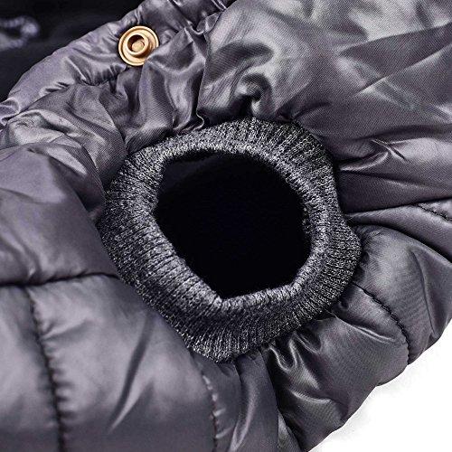 SUPEREX® Baumwollejacke Pet Coat Jacket Costüm Hundemantel Hundepullover Winterjacke Dog Vest für Welpen Hund, Herbst Weste, Winter Vest Warm Padded Hooded Haustier hoody Kleidung Hundebekleidung Hundejacke (Grau,L) (Achten Sie bitte auf die Größe) - 5